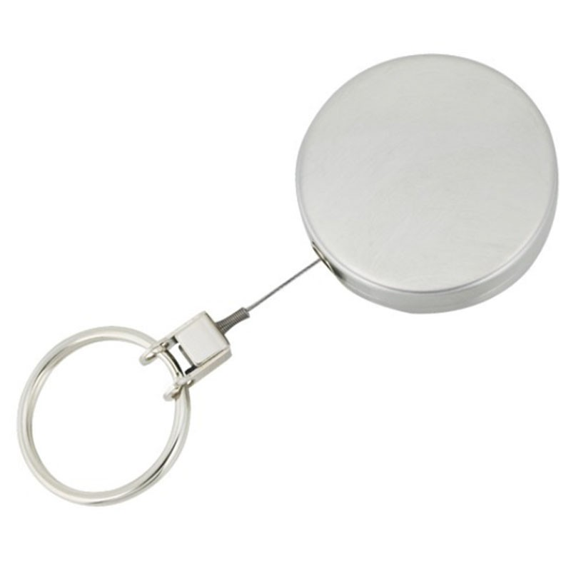 SKS Medium Metal Retractable Key Reel With Wire