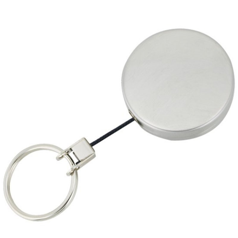 SKS Medium Metal Retractable Key Reel With Cord