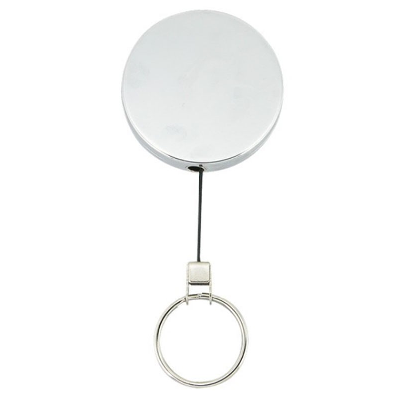 SKS Large Metal Retractable Key Reel With Cord