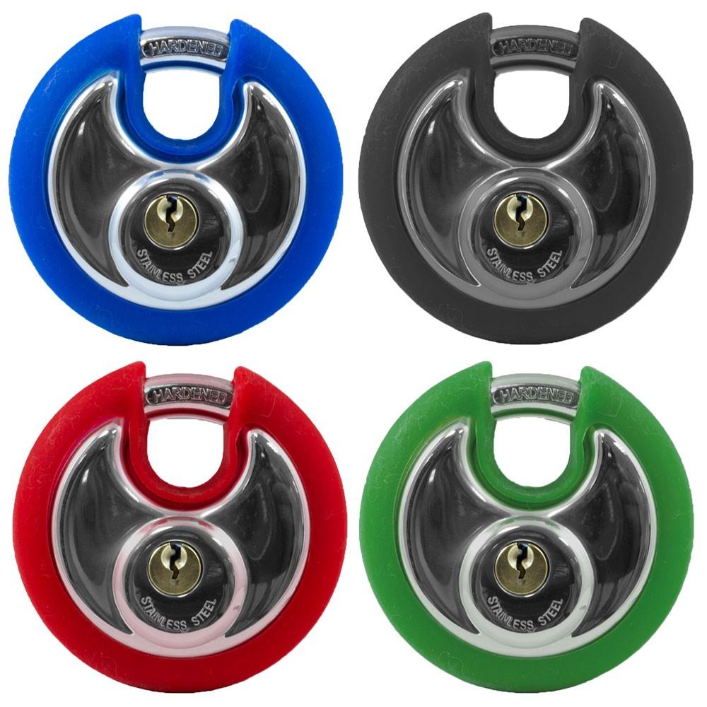Asec Coloured Discus Padlocks