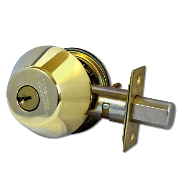Weiser 9371 Double Deadbolt Polished Brass