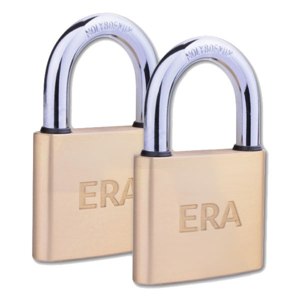 Era Solid Brass Padlock 40mm Twin Pack