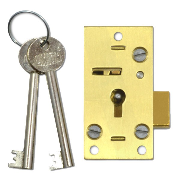 Union Lever Cupboard Lock 64mm