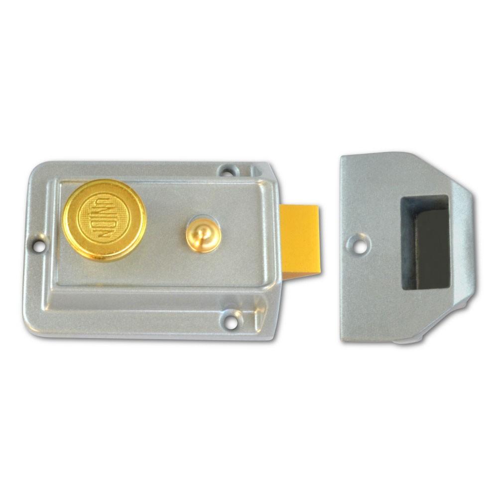 Union Traditional Nightlatch Case Silver