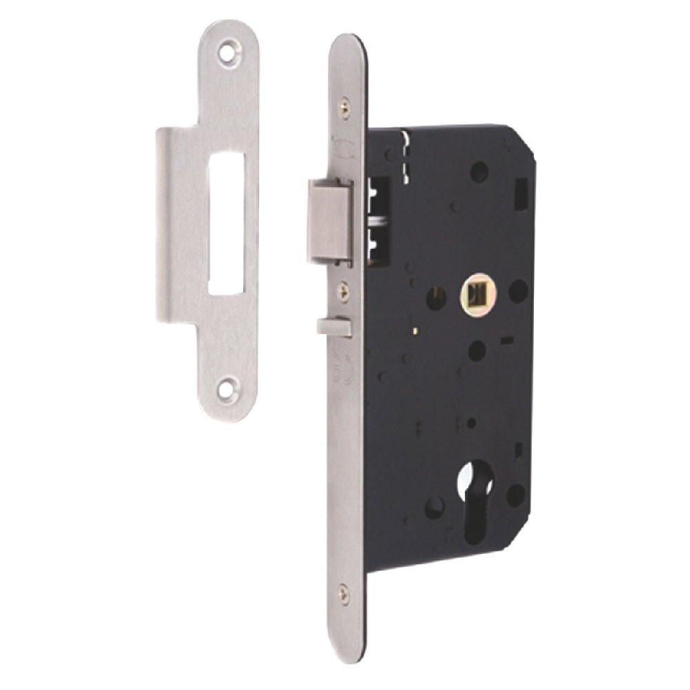 Union DIN Deadlocking Nightlatch Round Forend
