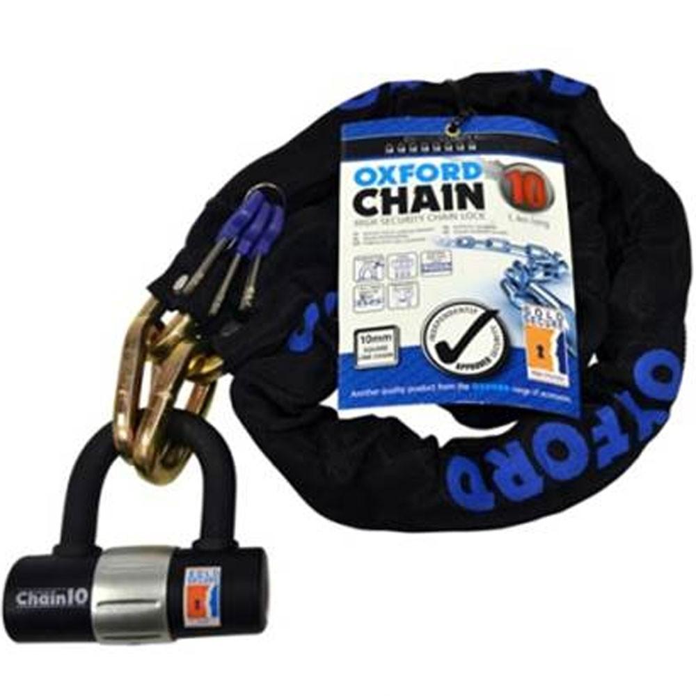 Oxford High Security Chain Lock 1.4m x 10mm