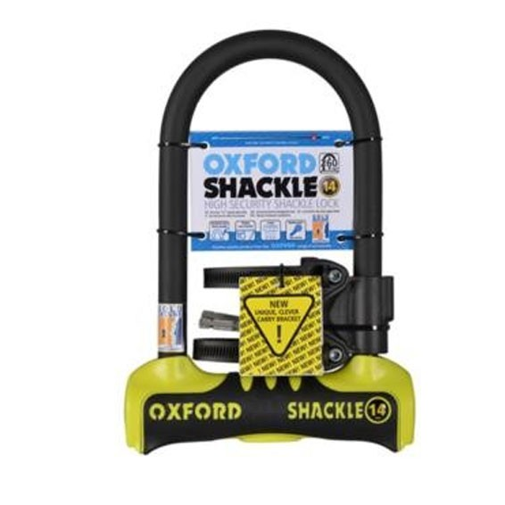 Oxford SHACKLE 14 U-Lock 260mm Yellow