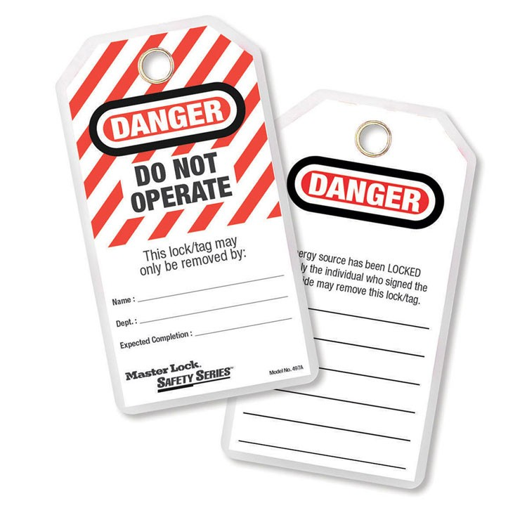 Master Lock Safety Tags Do Not Operate 12pk
