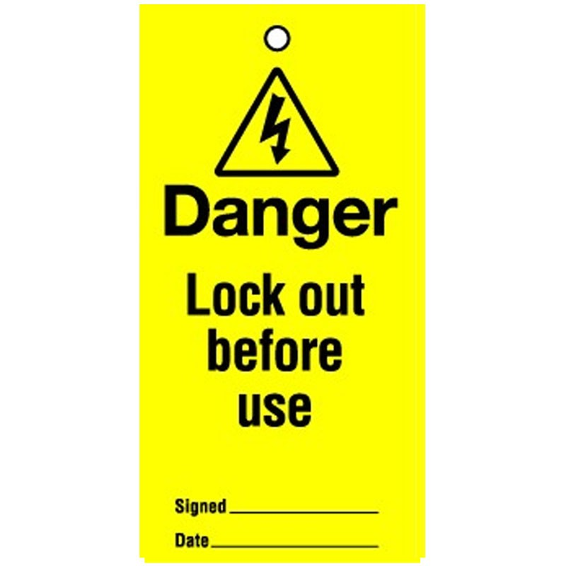 Lockout Tag Lock Out Before Use 100mm