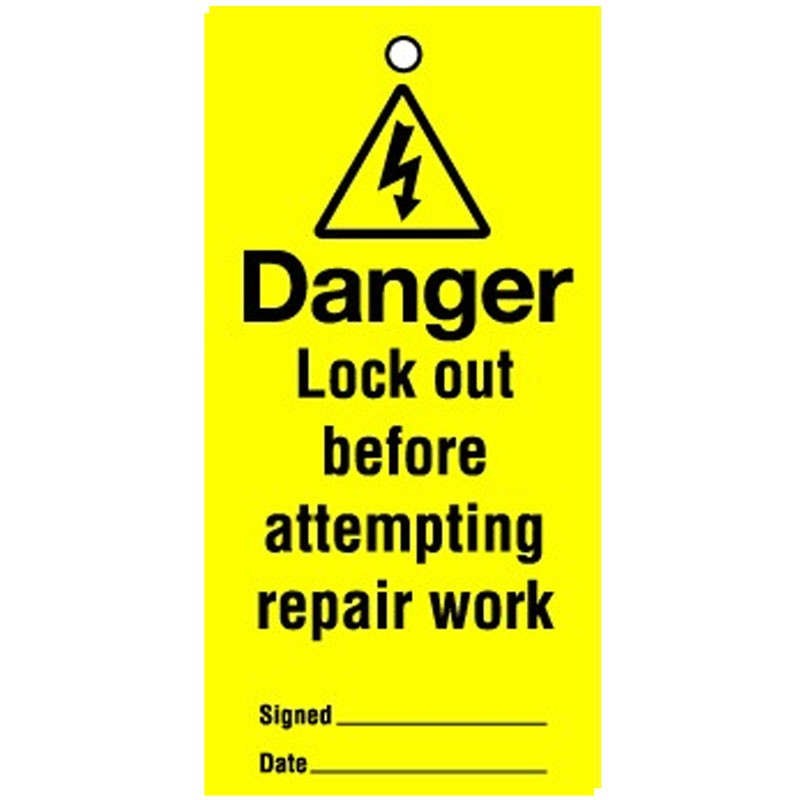 Lockout Tag Danger Lock Out Before 100mm