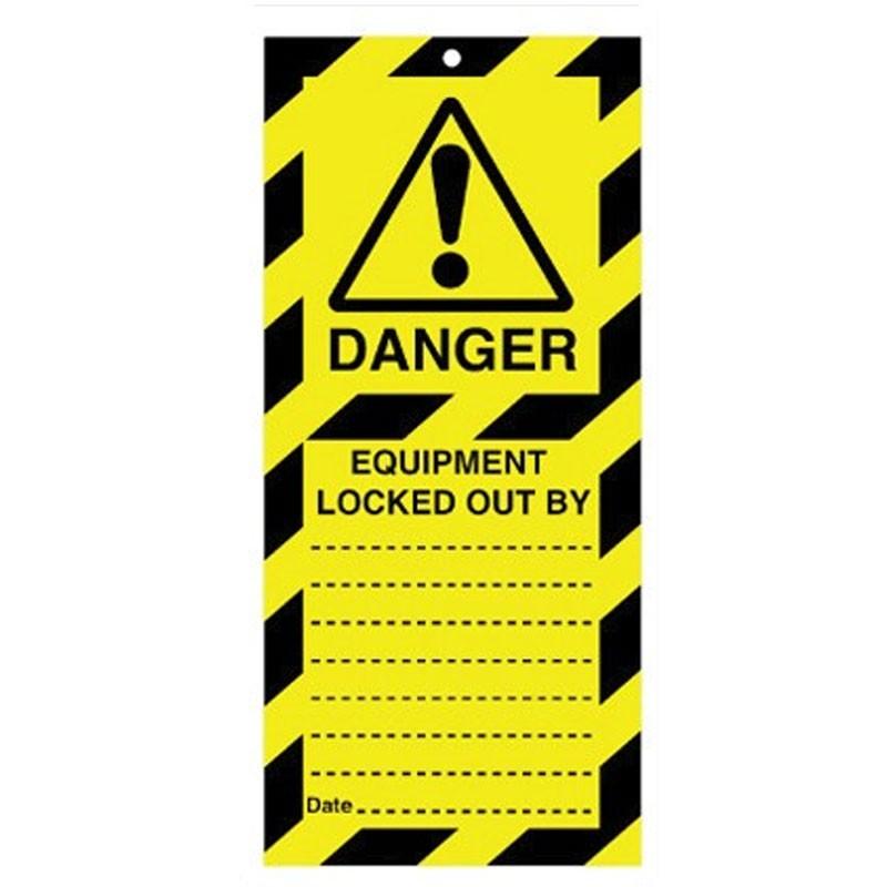 Poly Tag Equipment Locked 75mm