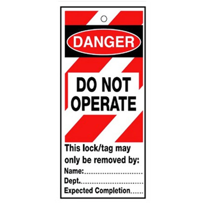 Poly Tag Danger Do Not Operate 75mm
