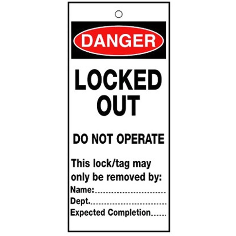 Poly Tag Danger Locked Out Do Not 75mm