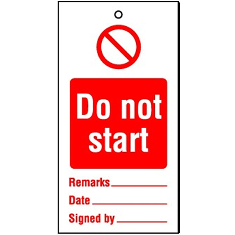 Lockout Tag Do Not Start