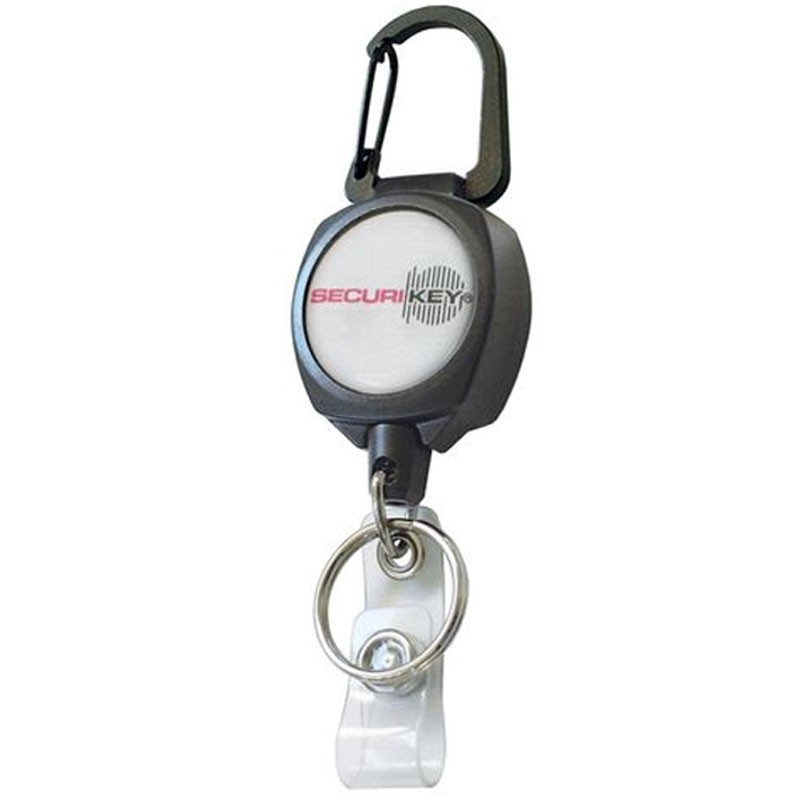 Securikey Retractor With ID Badge Strap & Ring