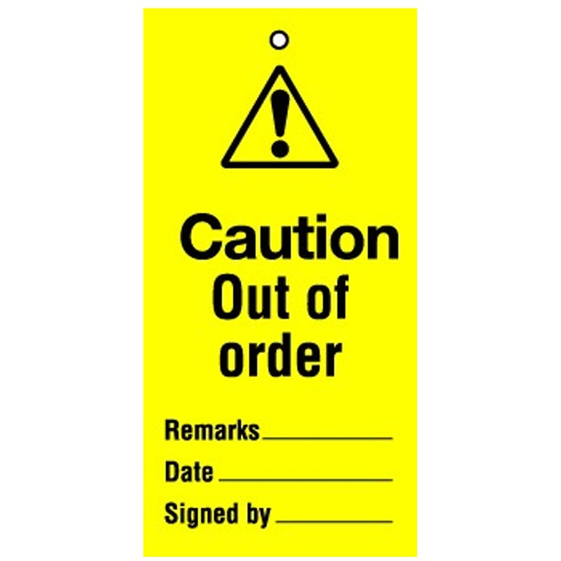 Lockout Tag Caution Out Of Order