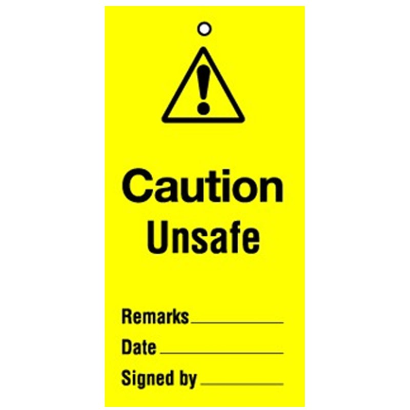 Lockout Tag Caution Unsafe