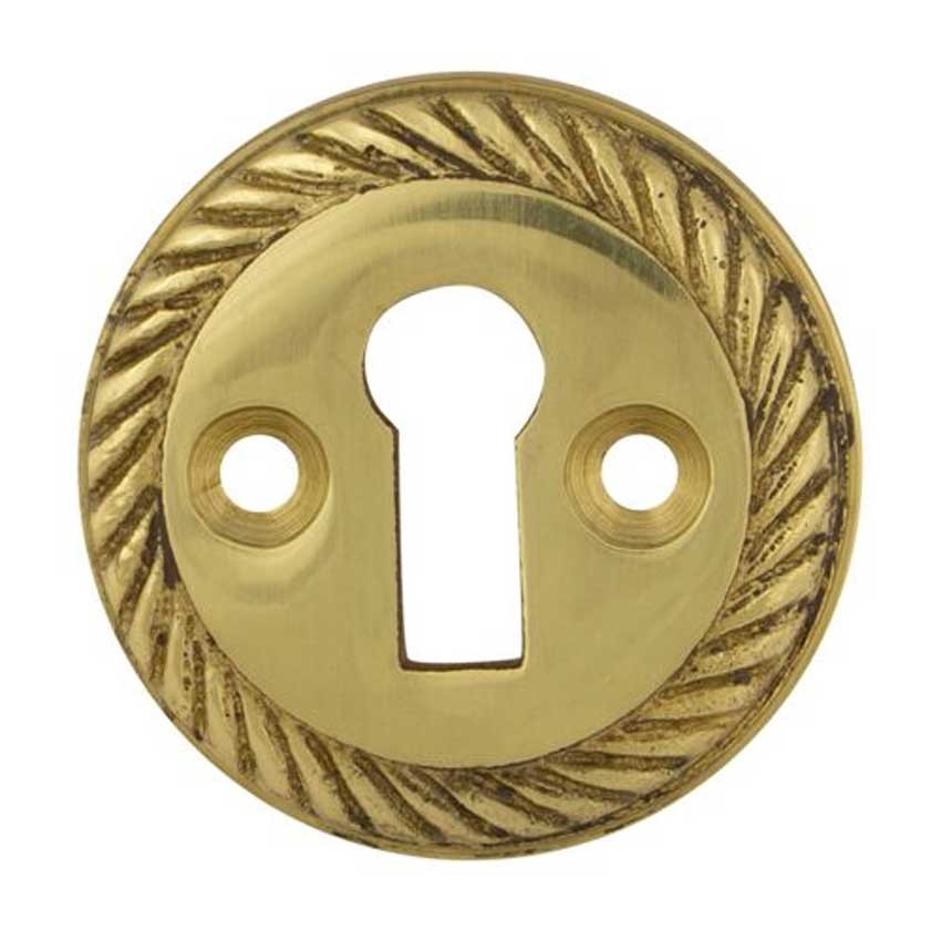 TSS Georgian Open UK Key Escutcheon Brass