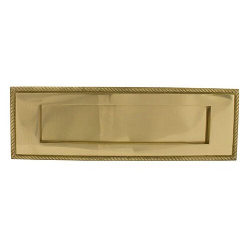 TSS Georgian Sprung Letter Plate 11x3.75 Brass