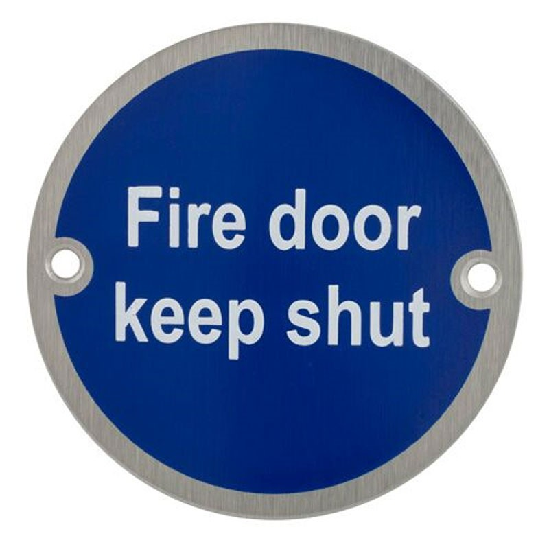 TSS Fire Door Keep Shut Sign Face Fix