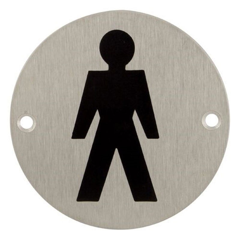 TSS Male Bathroom Engraved Sign Face Fix
