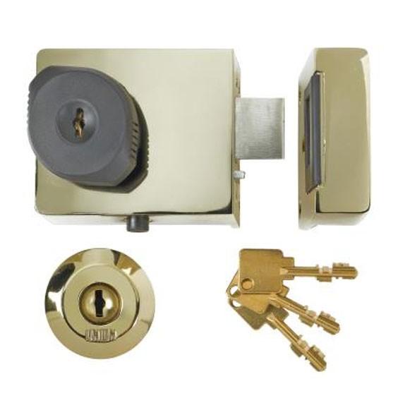 Union BS3621 Rim Lock Brass 60MM