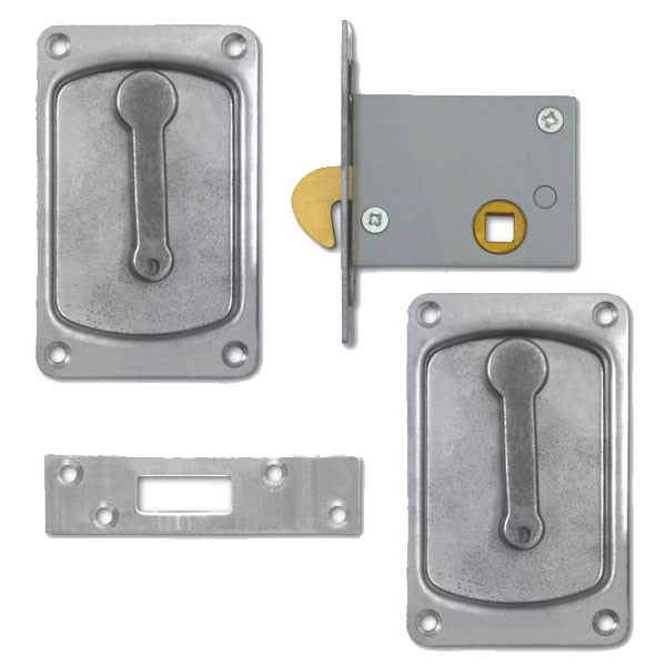 Willenhall Sliding Door Latch Satin Chrome 64mm