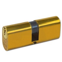 Cisa Oval Cylinder Polished Brass