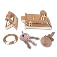Era 133 Cylinder Nightlatch Brass 91mm