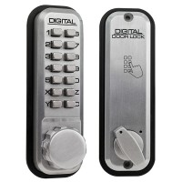 Lockey 2210 Mechanical Digital Lock Satin Chrome