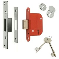 Era Fortress Deadlock 64mm Satin Chrome
