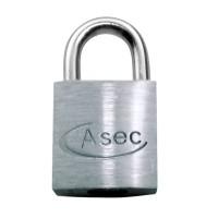Asec Open Shackle Chrome Finish Padlock KD 30m
