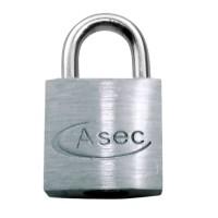 Asec Open Shackle Chrome Finish Padlock KD 40mm