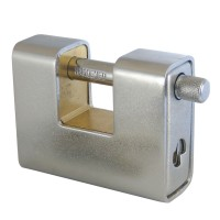 Asec Steel Sliding Shackle Padlock 90mm