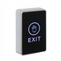 Securefast LED Narrow Touch To Exit Button Black