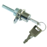 Asec Single Flange Fix Furniture Lock 19mm