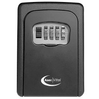 Asec Vital 4 Wheel Combination Key Safe Black