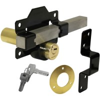 A Perry Double Locking Long Throw Gate Lock 70mm