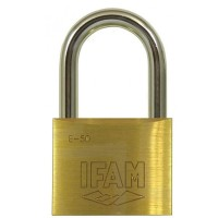 Ifam E50 Brass Padlock 50mm LS