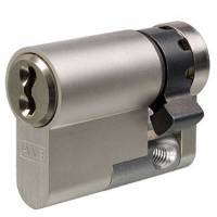 Evva 3KS Plus Half Euro Cylinder Nickel Plated