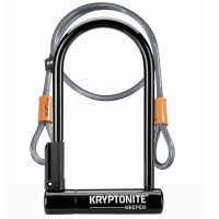 Kryptonite Keeper New-U Standard U-Lock With Cable