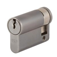 Union 2X20 Euro Single Cylinder Satin Chrome