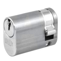 Union 2X8 Oval Single Cylinder Satin Chrome