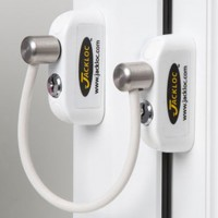 Jackloc Window Restrictor Double Bullet White