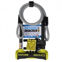 Oxford SHACKLE 14 DUO U-Lock Yellow With Cable