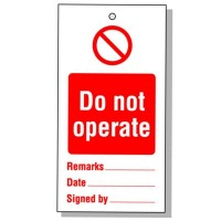Lockout Tag Do Not Operate 80mm