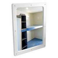 Securikey Anti Vandal Flat Poly Carb Mirror