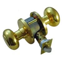 Weiser Troy GA331T3GC Privacy Set Brass