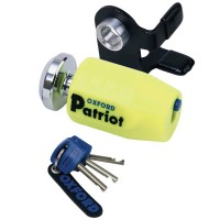 Oxford Patriot Disc Lock Yellow