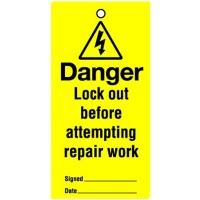 Lockout Tag Danger Lock Out Before
